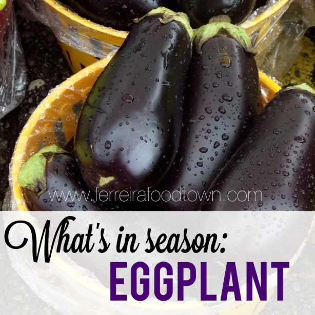 what's in season - eggplant